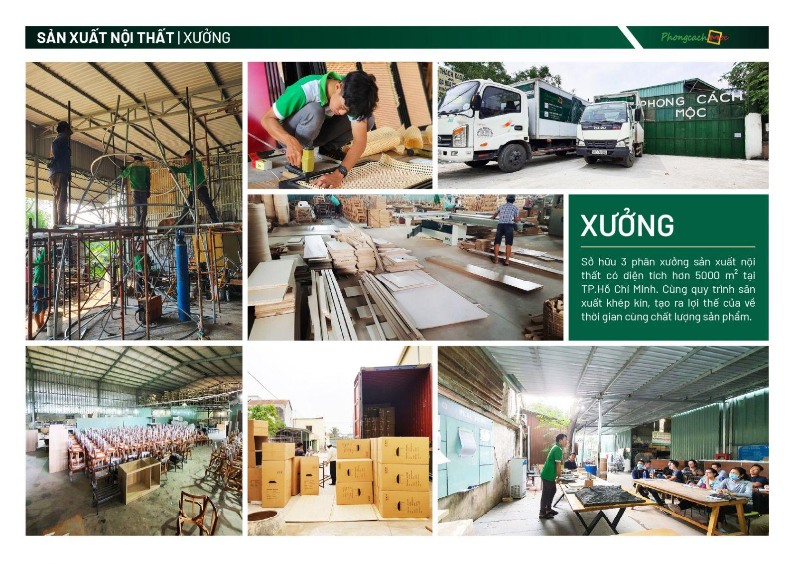 Xưởng sản xuất nội thất Phong Cách Mộc