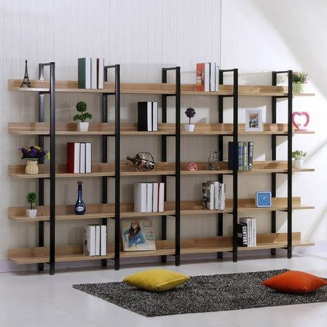 kệ gỗ khung sắt trang trí nội thất mf27
