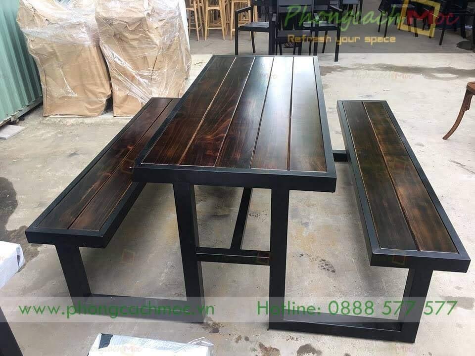 Bàn ghế cafe khung sắt MN219