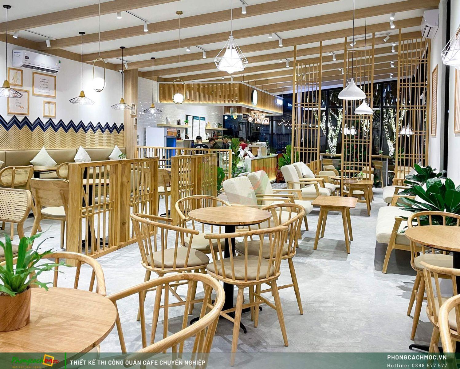 Chi tiết thiết kế không gian quán cafe Chidori