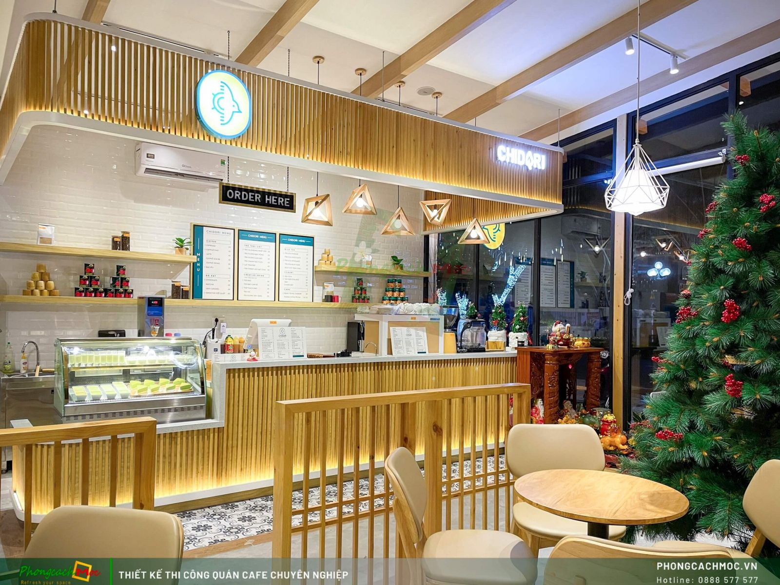 Thiết kế khu quầy pha chế dự án chidori coffee