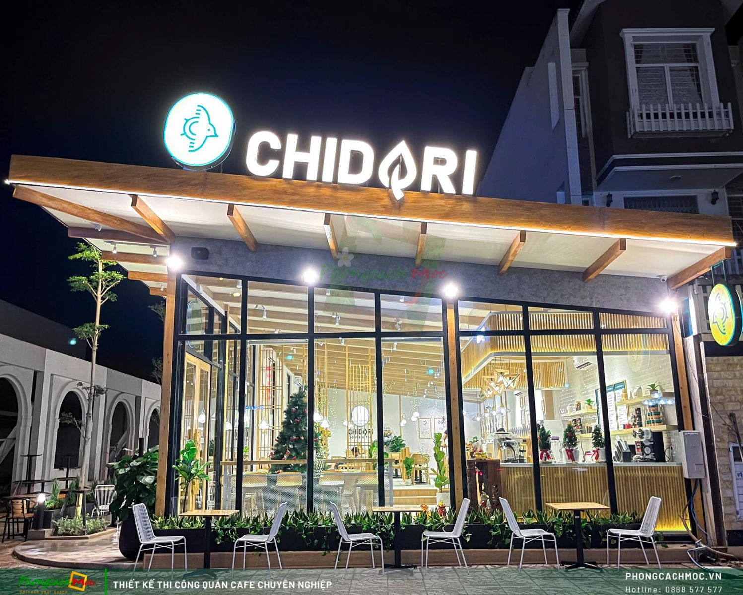 Thiết kế mặt tiền Chidori Coffee