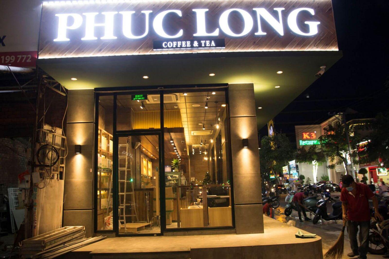 pcm cung cấp nội thất quán cafe phúc long tea