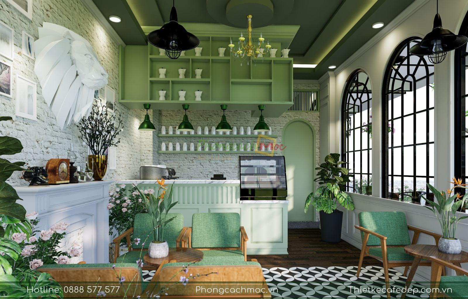 thiết kế quán cafe chủ đề tropical nhiệt đới