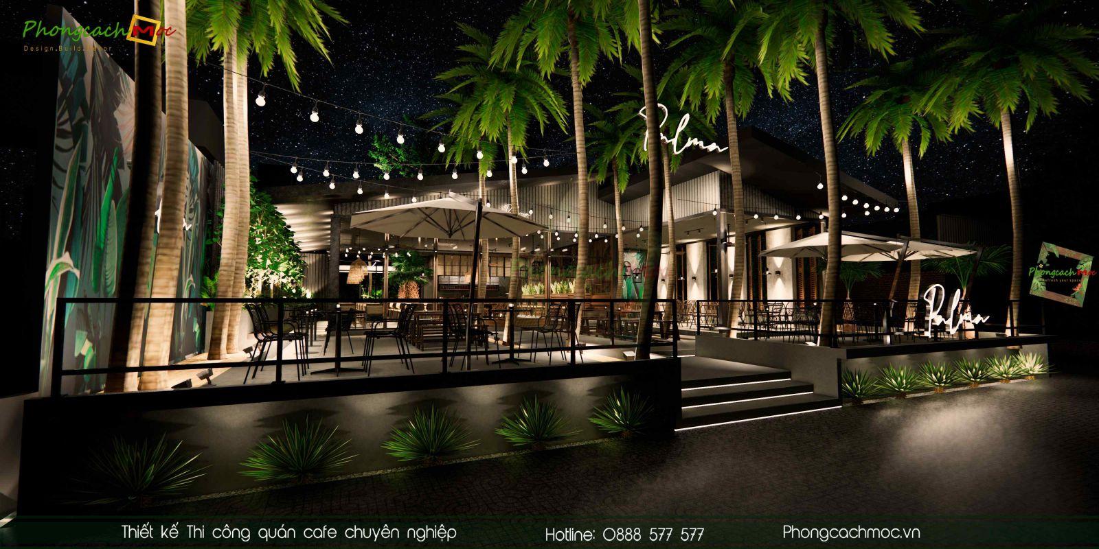 Thiết kế quán cafe Palma Garden