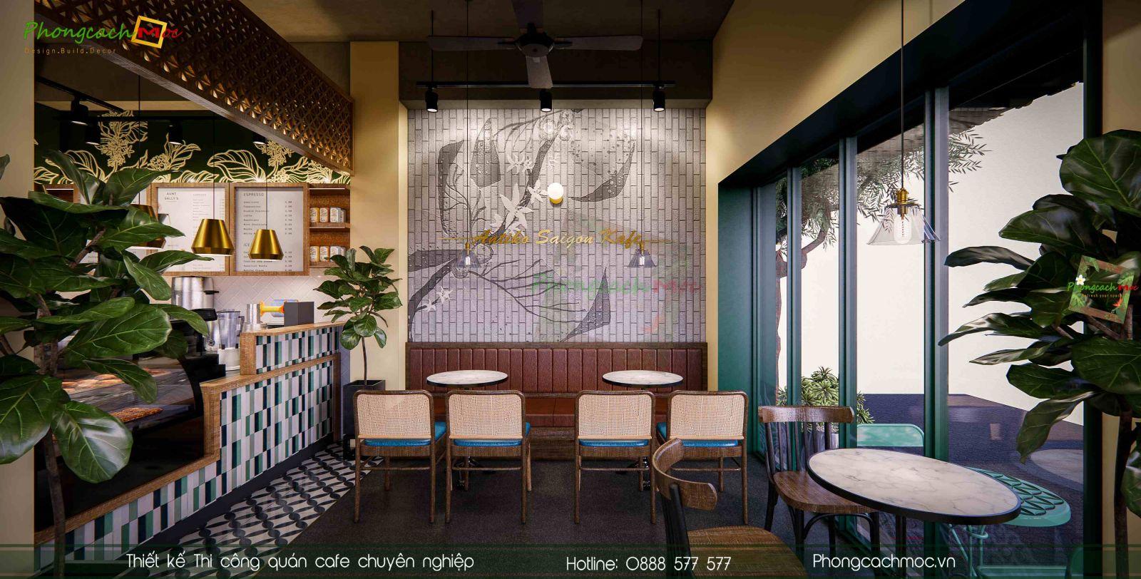 Thiet ke noi that quan cafe Antiki Saigon Kafe
