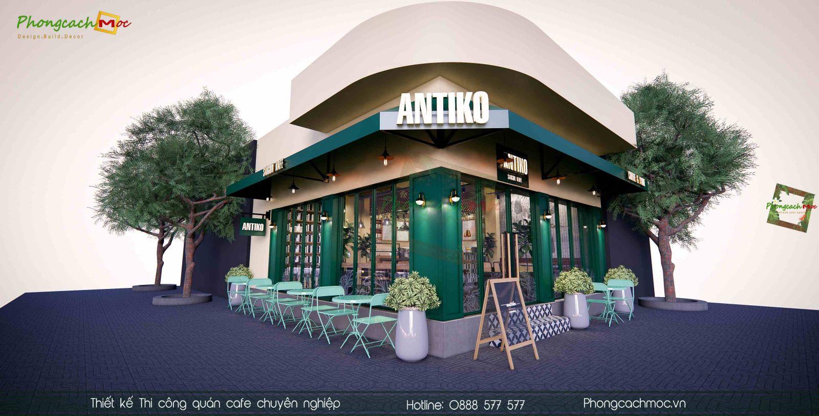 Thiet ke quan cafe Antiko Saigon Kafe