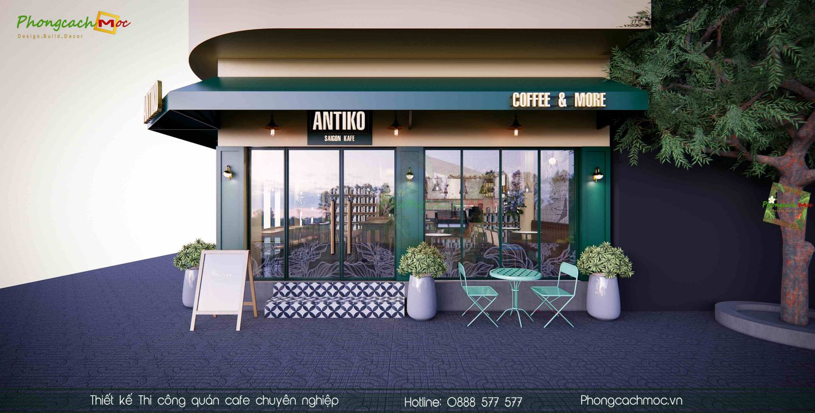Thiet ke quan cafe Antiki Saigon Kafe