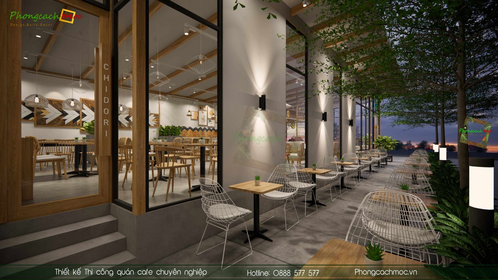 Thiết kế không gian Chidori Coffee & Tea