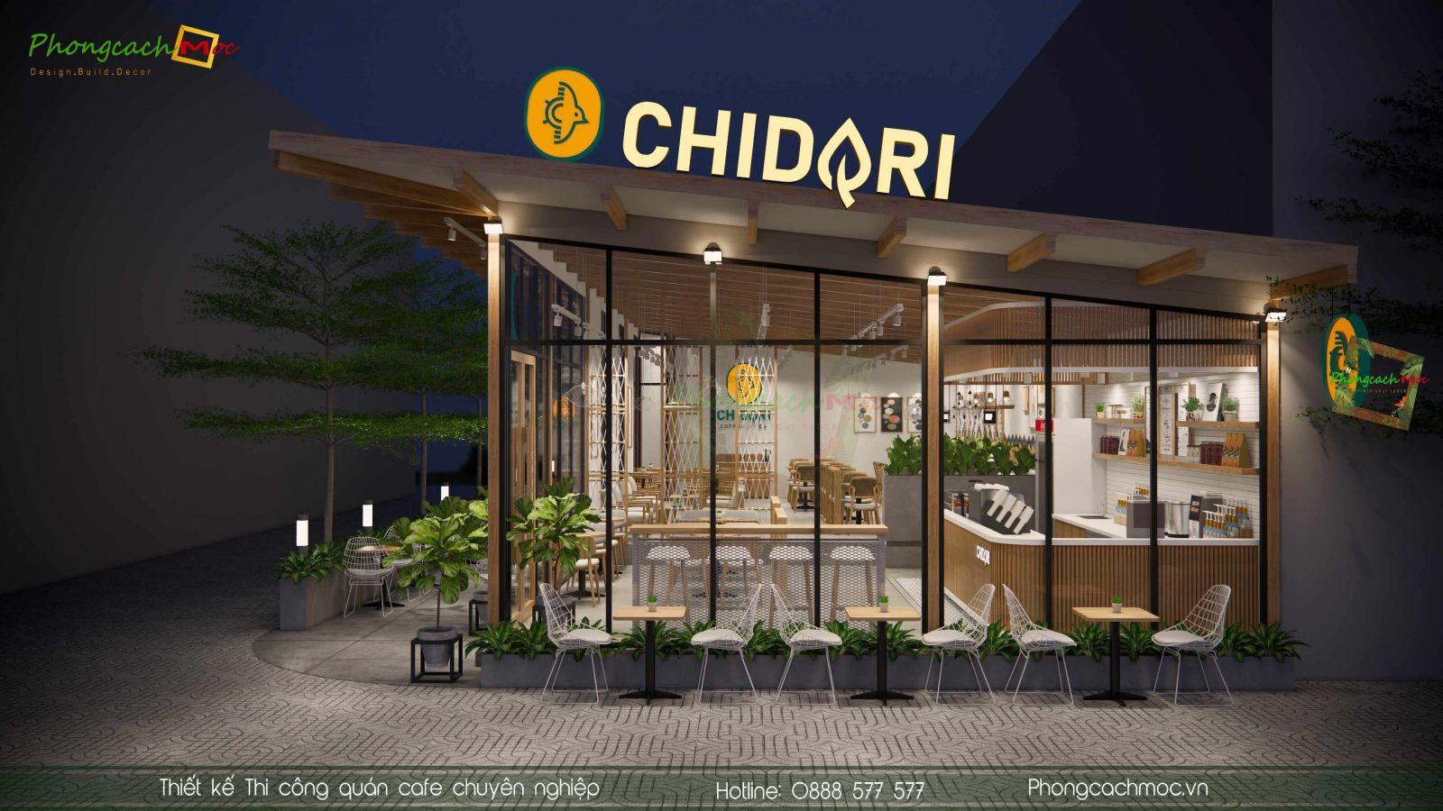 Thiết kế mặt tiền Chidori Coffee & Tea