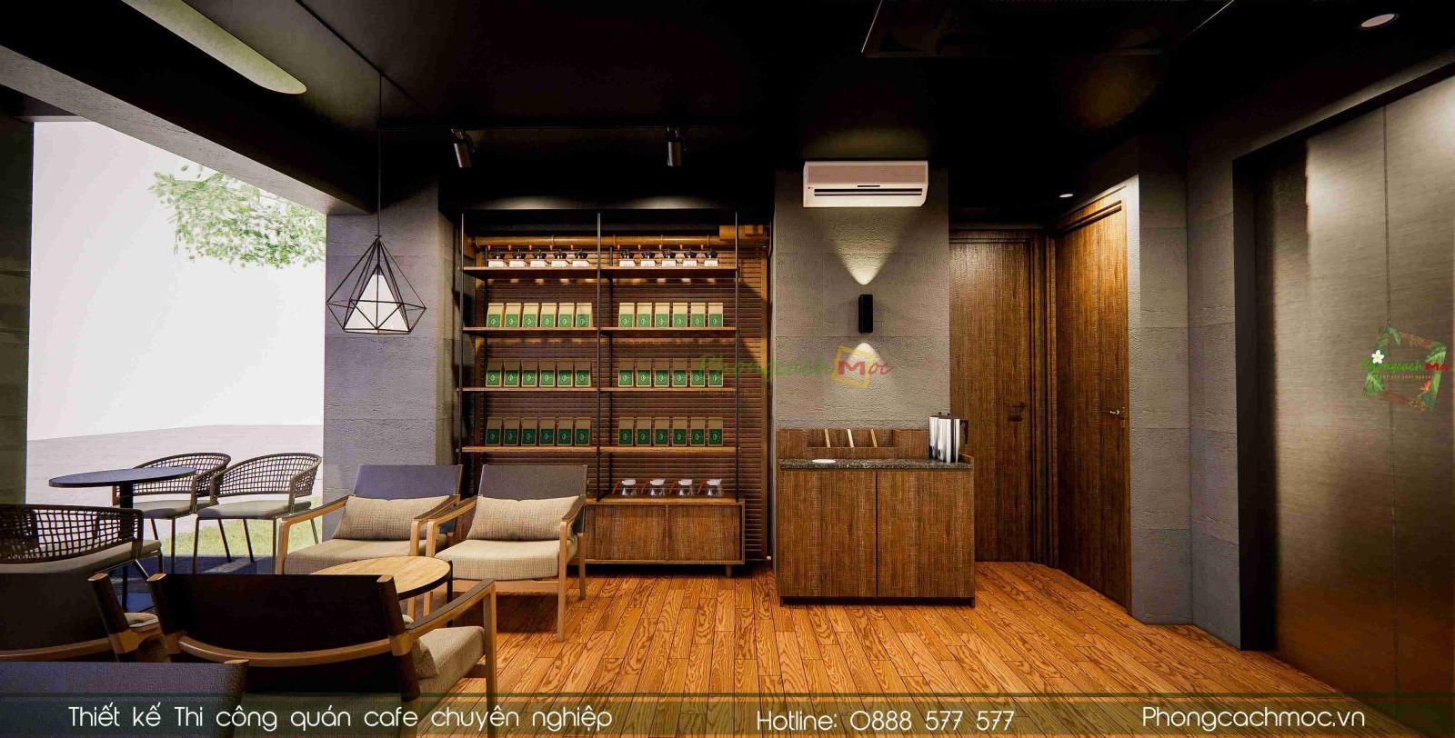 Thiết kế quán cafe Ming Coffee