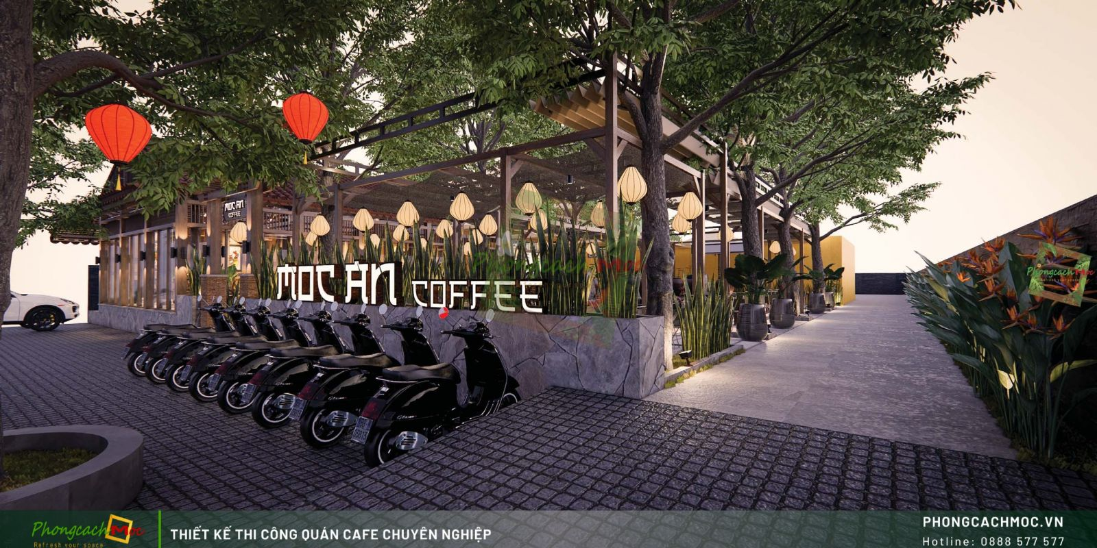 Thiết kế không gian Mộc An Coffee - Tây Ninh