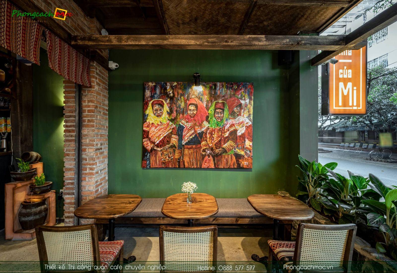 Hình ảnh hoàn thiện quán cafe Nhà Của Mị