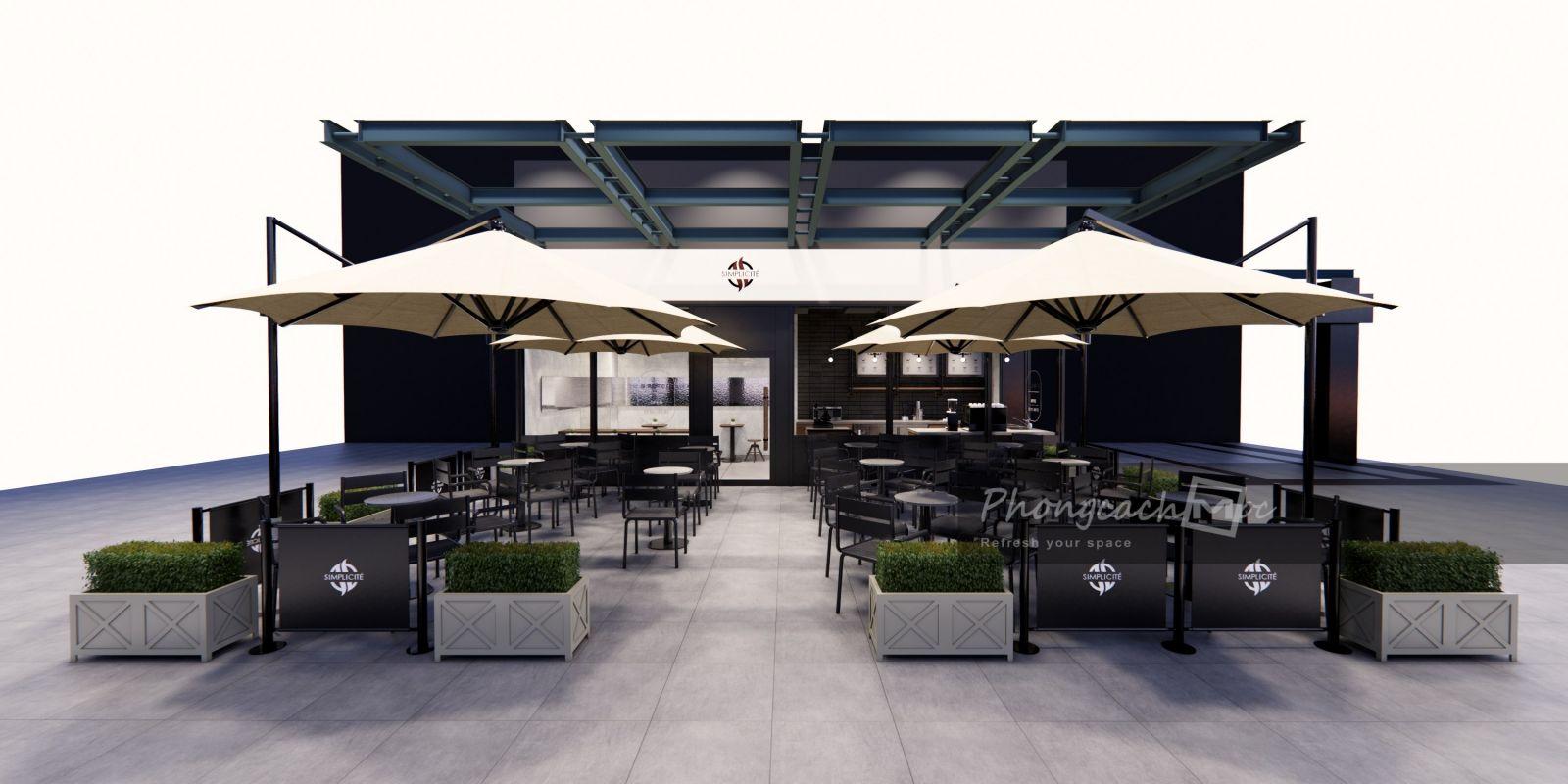 Thiết kế quán cafe Simplicite