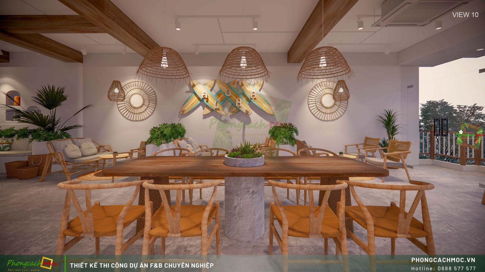 Thiết kế nội thất quán cafe santorini