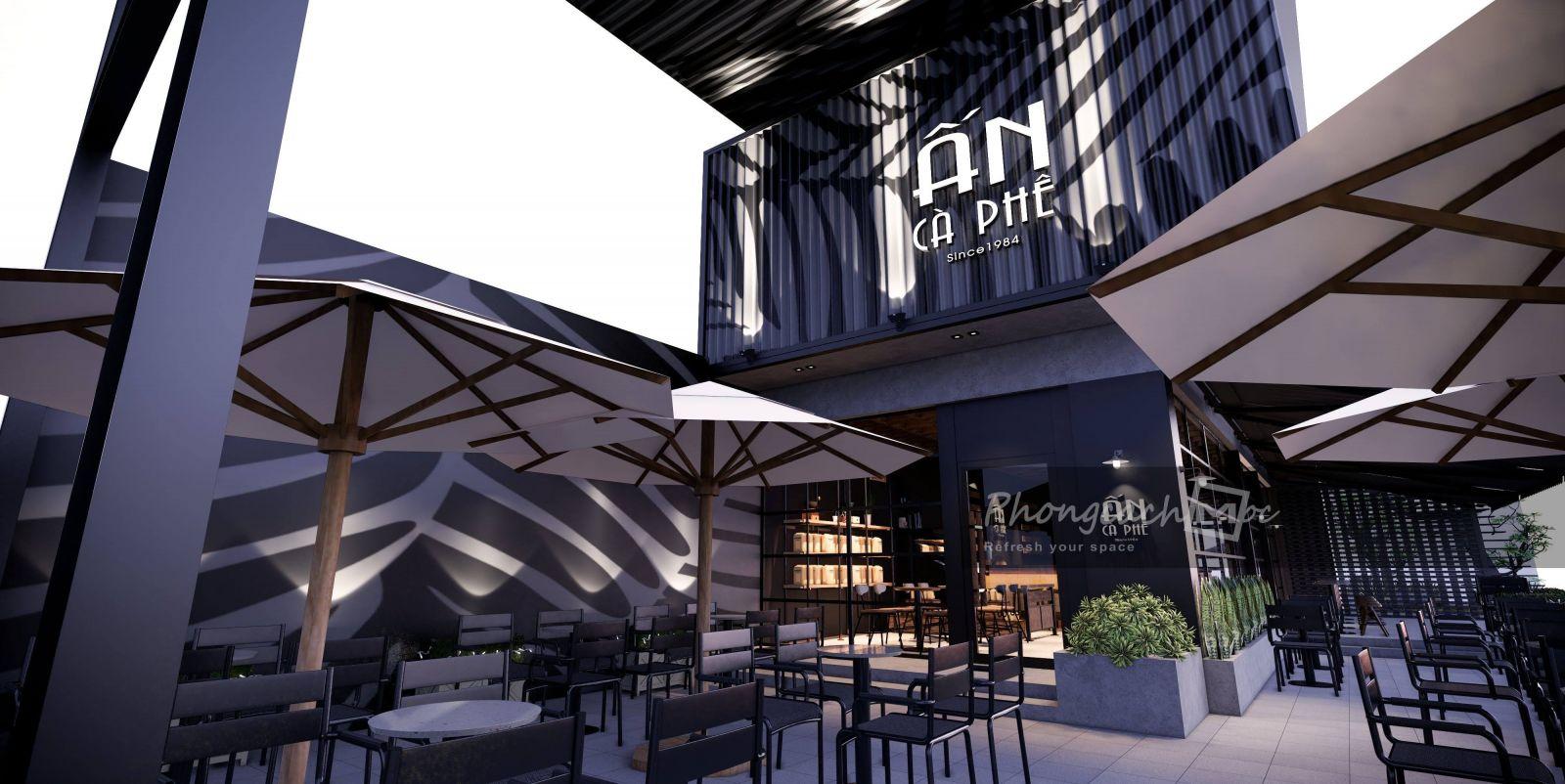 Thiết kế quán cafe phong cách đương đại Ấn Cà Phê