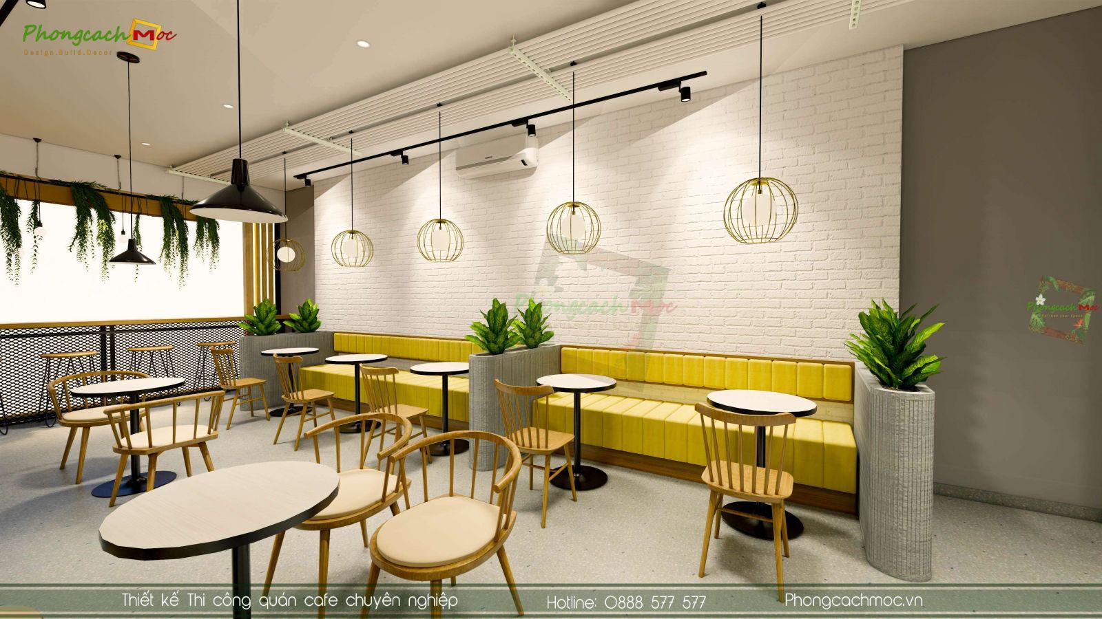 Thiết kế không gian phòng lạnh quán trà sữa apa bubble milktea