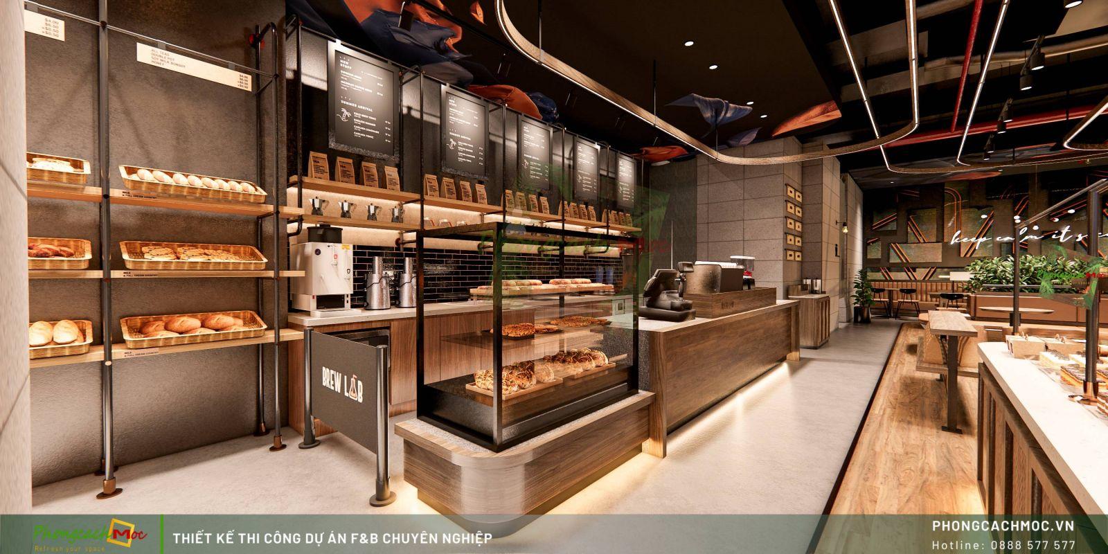 Thiết kế không gian Brew Lad Coffee