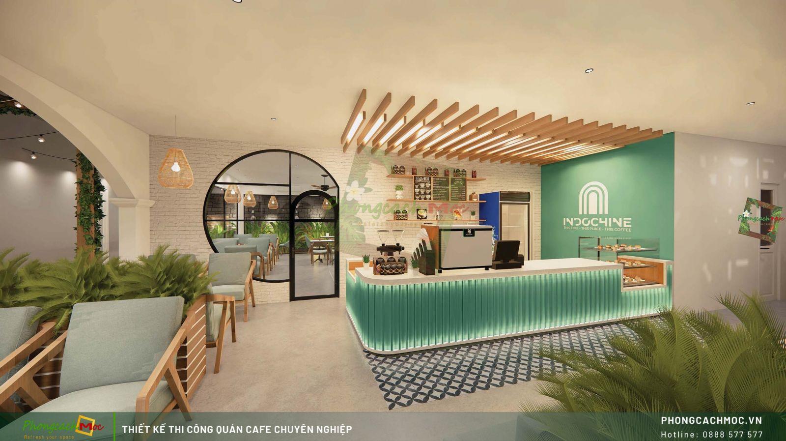 Thiết kế không gian quầy pha chế Indochine Coffee