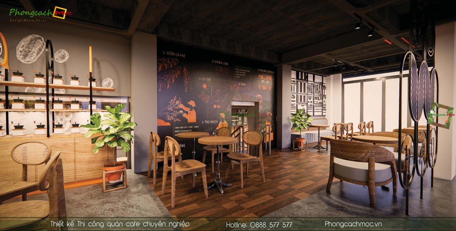 Thiết kế quán cafe Mr Phin