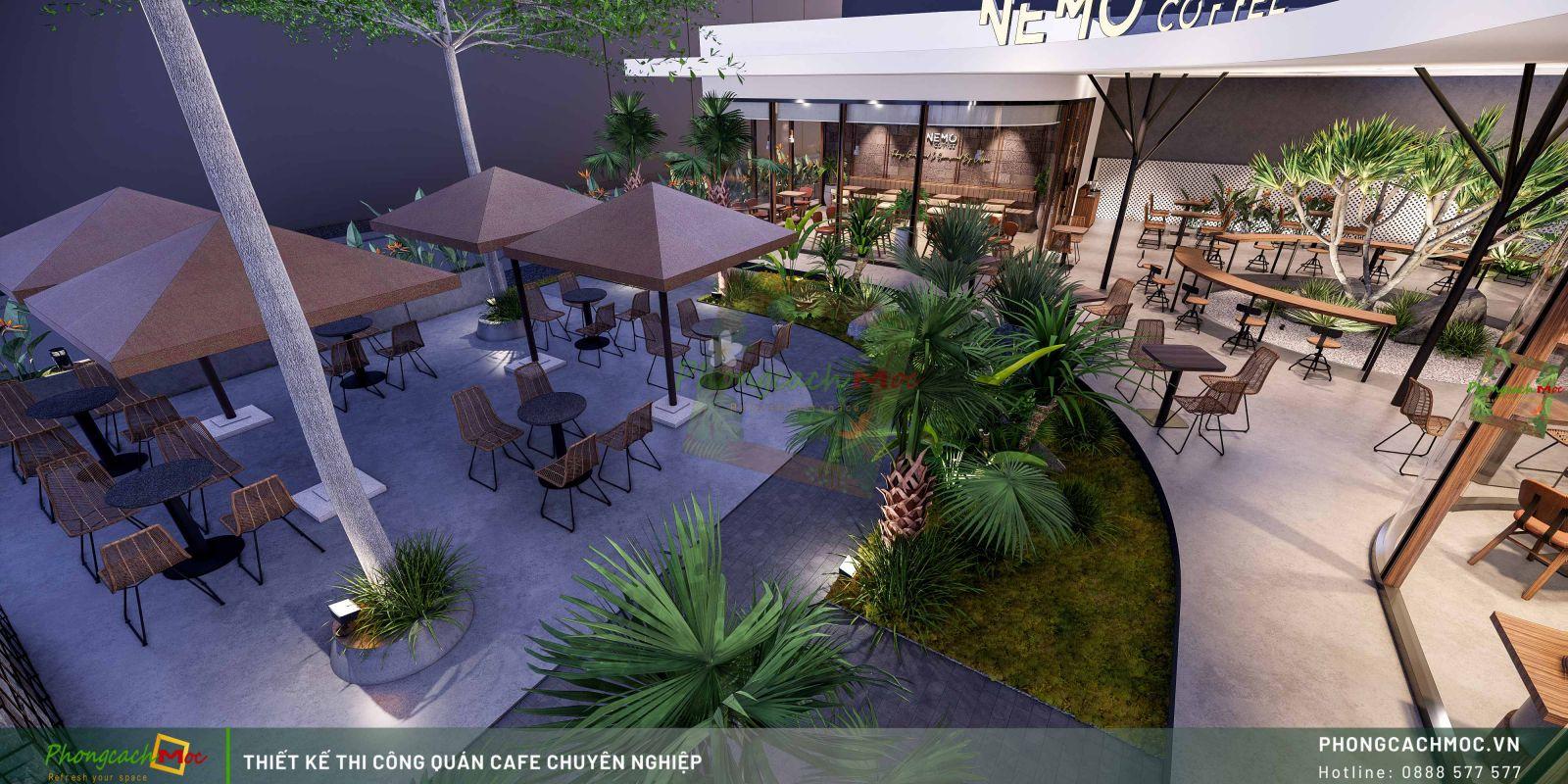 Thiết kế không gian Nemo Coffee