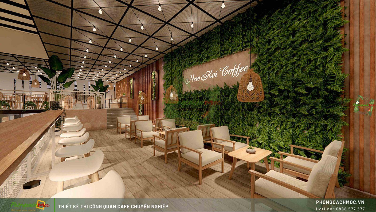 Thiết kế không gian New Koi Coffee quận 7