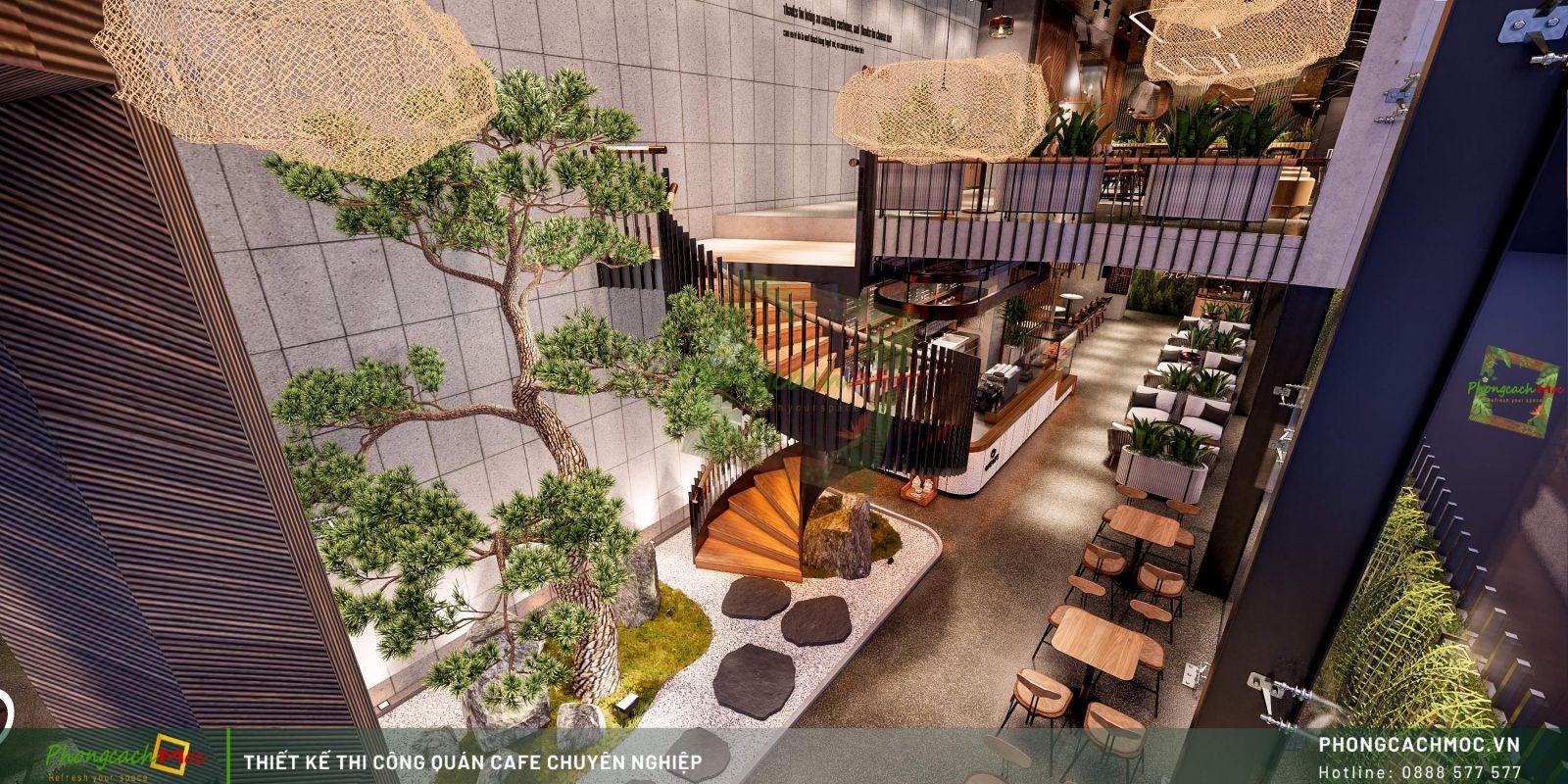 Thiết kế quán One Life Coffee - Tầng trệt