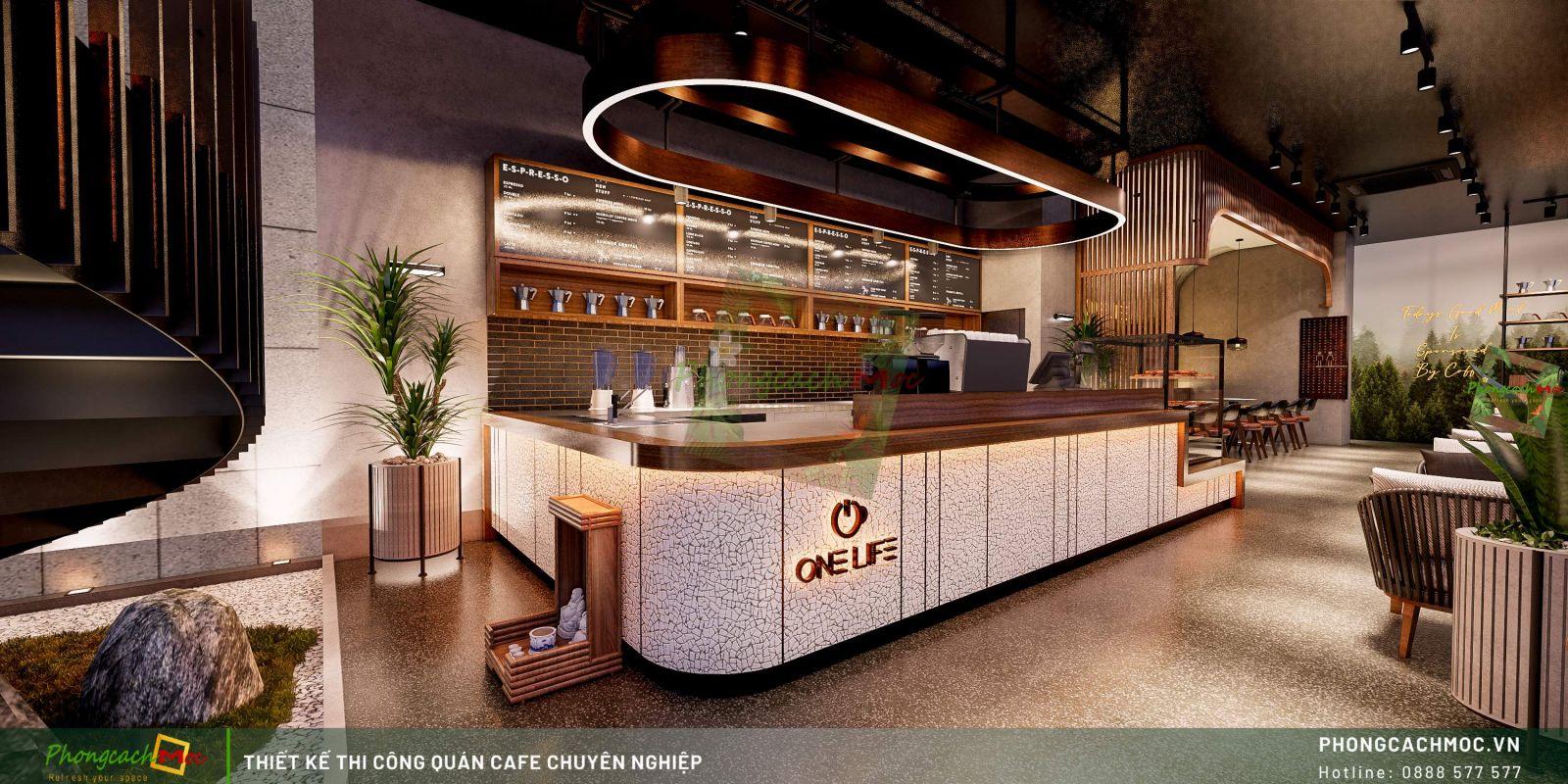 Thiết kế quán One Life Coffee - Quầy pha chế