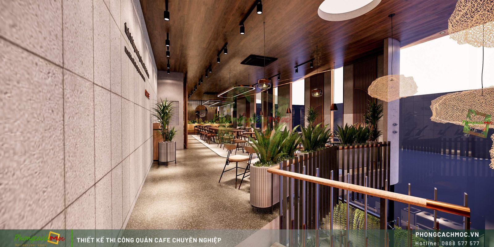 Thiết kế quán One Life Coffee - Lầu 1