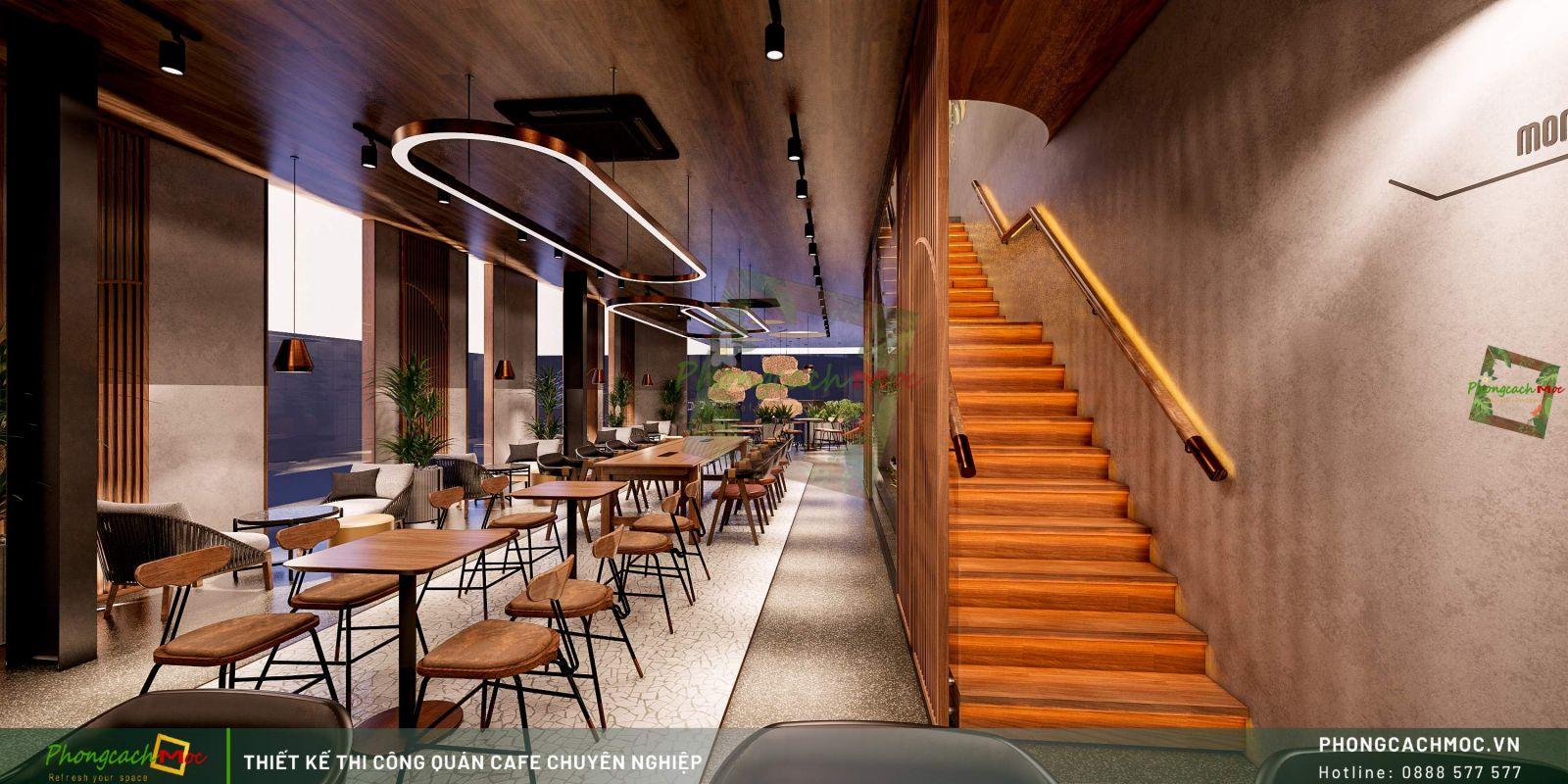 Thiết kế quán One Life Coffee -Lầu 1