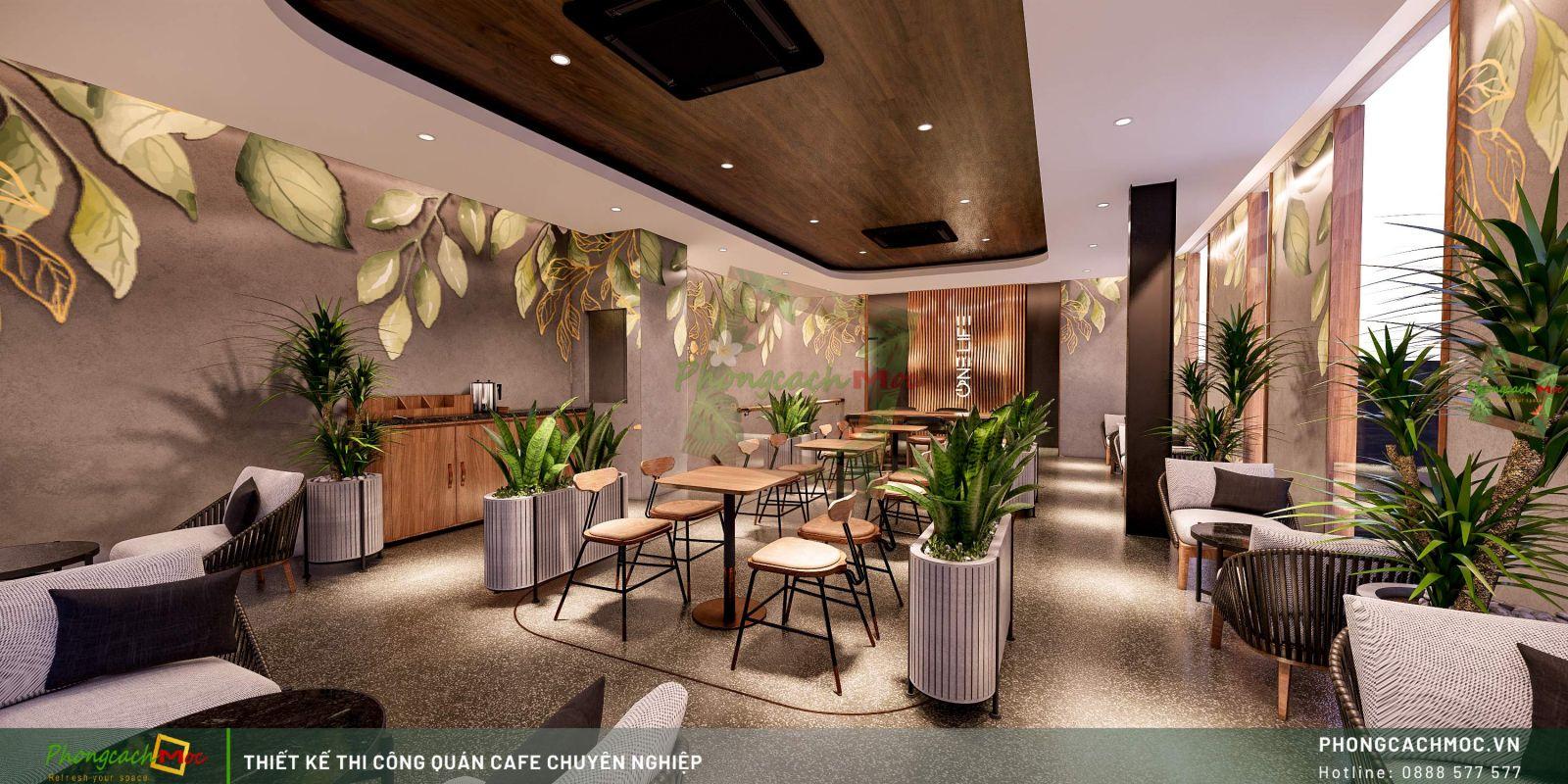 Thiết kế quán One Life Coffee -Lầu 2