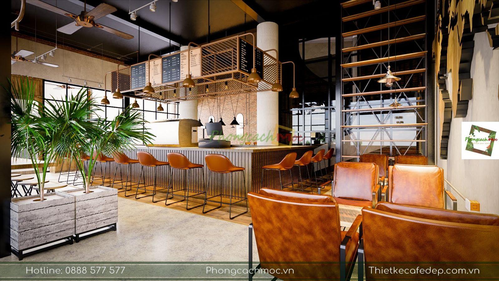 thiết kế nội thất quán palermo coffee