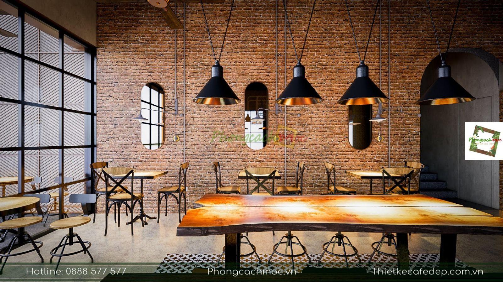 bàn nhóm vintage pcm thiết kế cho dự án quán cà phê