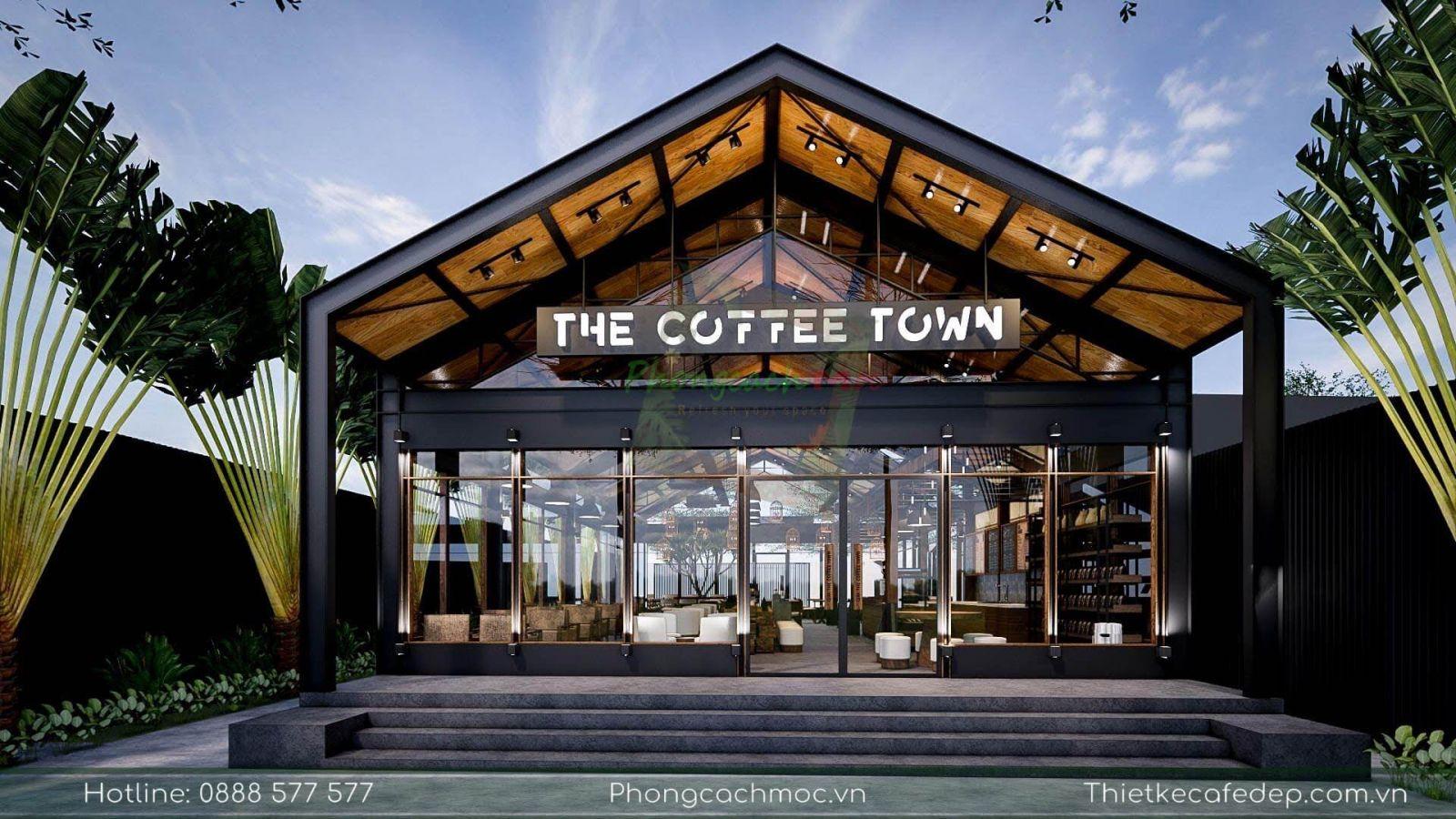 pcm thiết kế quán cafe diện tích 970m2 -the coffee town