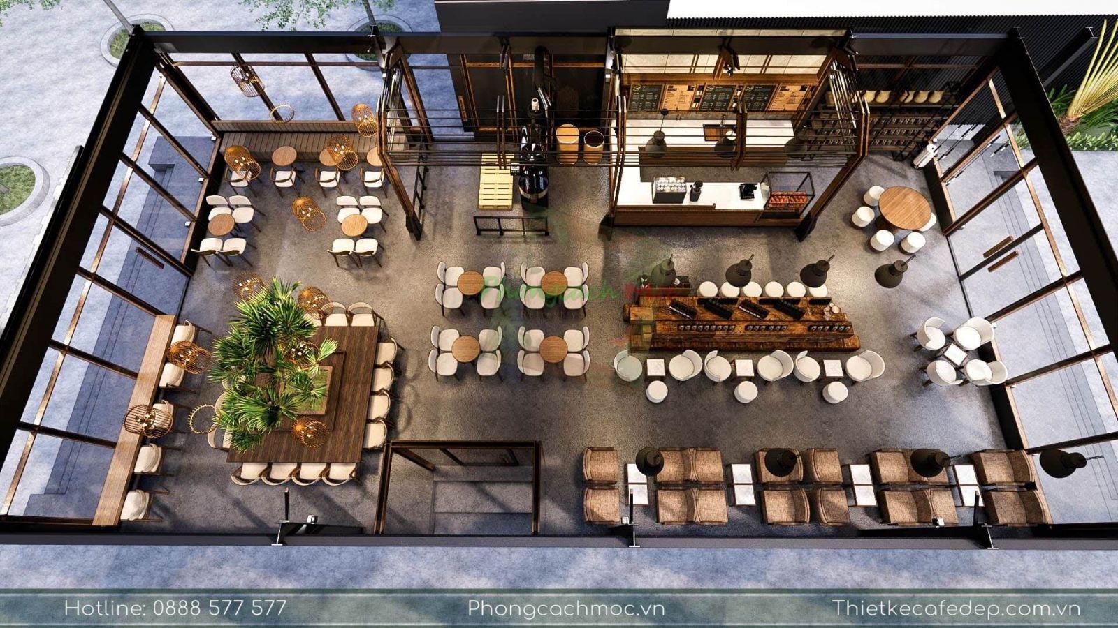 pcm thiết kế quán cà phê tại lê văn lương quận 7 - the coffee town