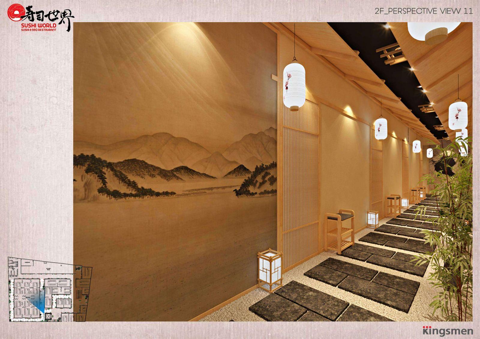 thiết kế sử dụng chất liệu gỗ vào trong không gian nội thất nhà hàng