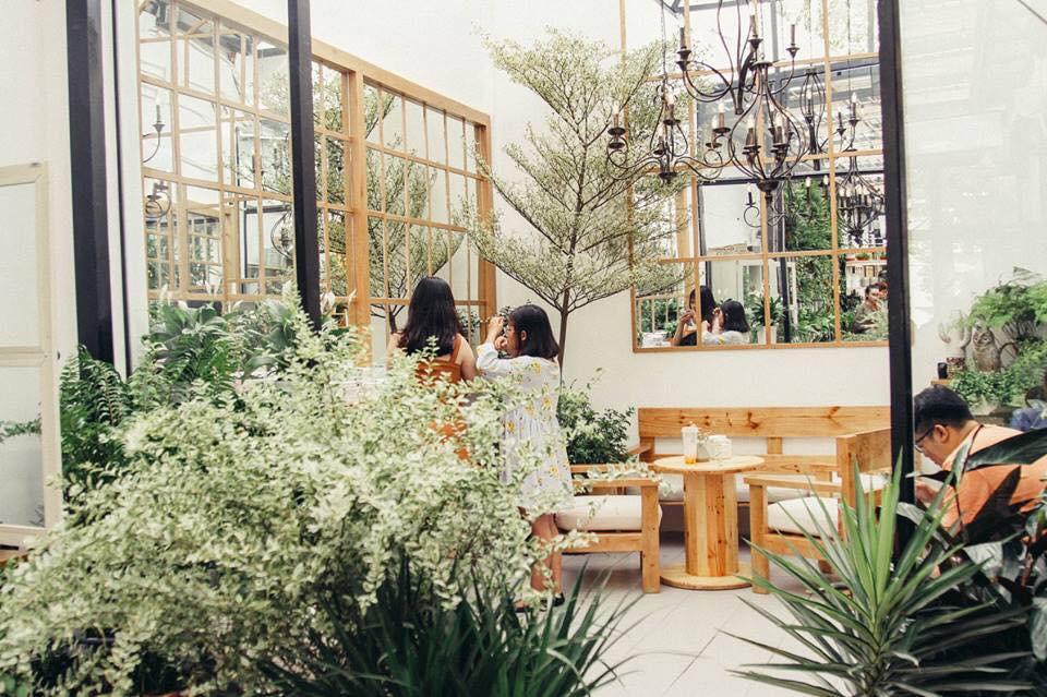 không gian quán cafe farmer garden tại quận 3