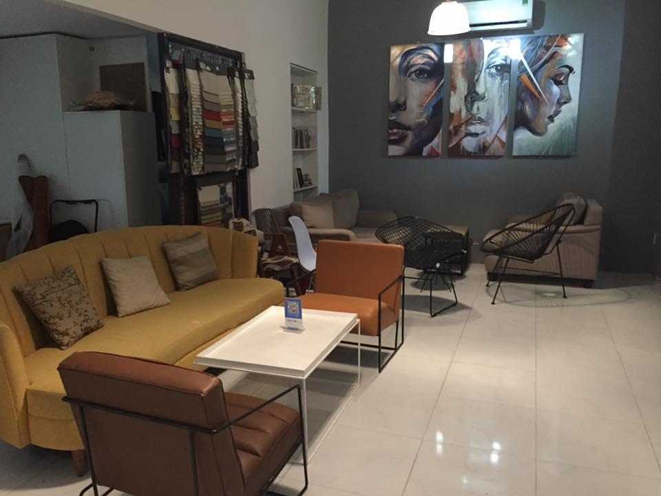bộ bàn ghế sofa băng dài của quán cà phê