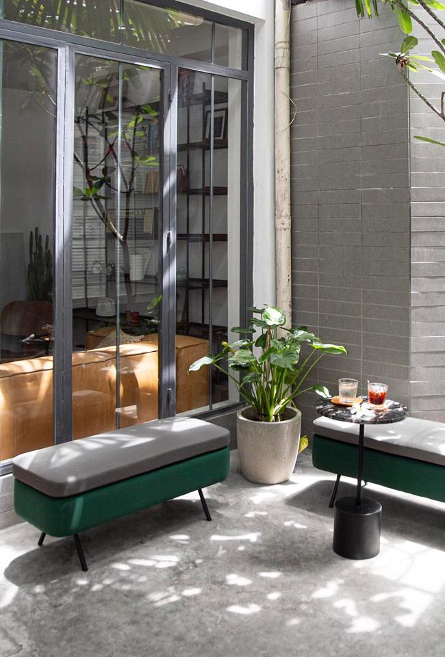 không gian ngoài trời quán cafe zero coffee